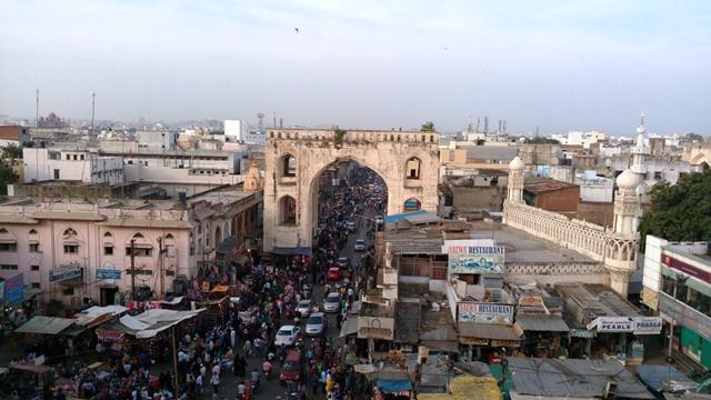 Vue d'Hyderabad depuis le Sharminar